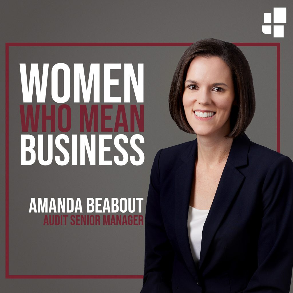 Amanda Beabout Receives 2020 Women Who Mean Business Award
