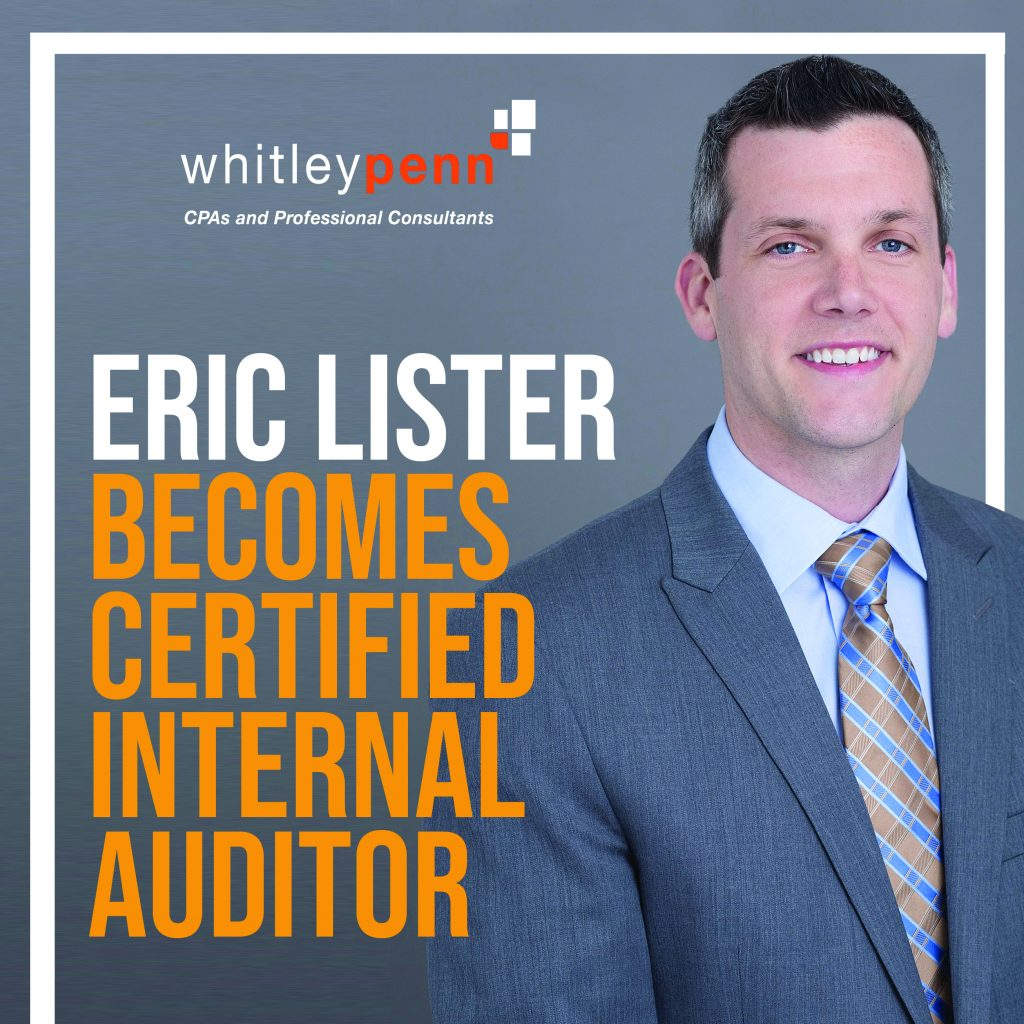 Eric Lister Becomes Certified Internal Auditor®