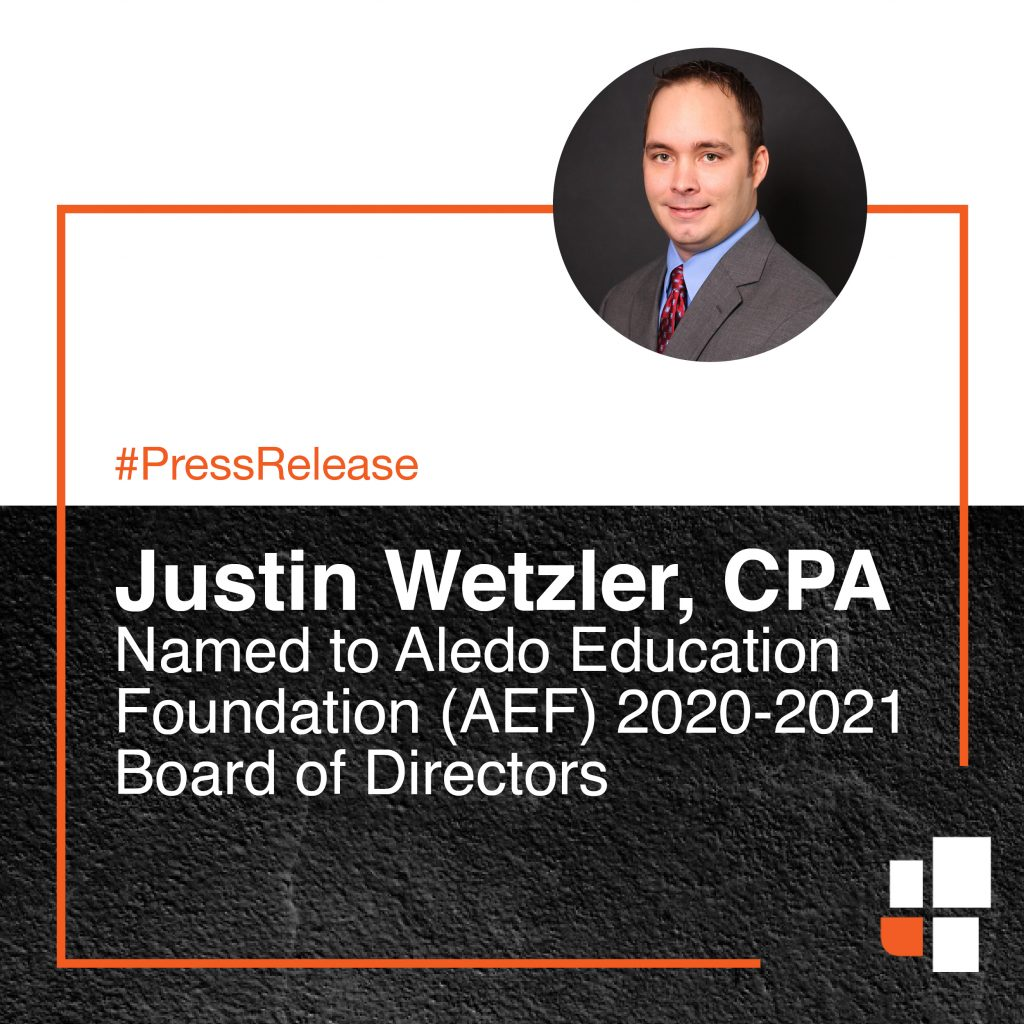 Justin Wetzler Named to Aledo Education Foundation (AEF) 2020-2021 Board of Directors