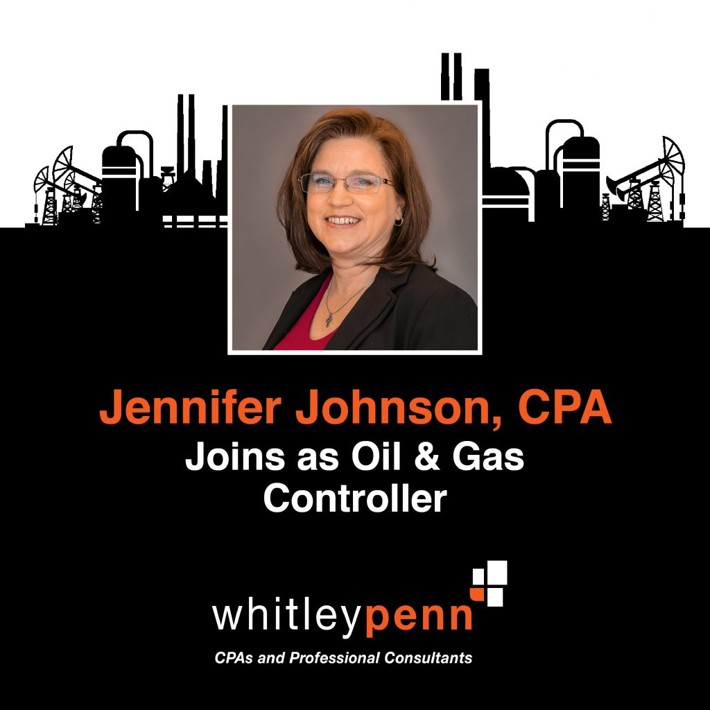 Jennifer Johnson, CPA Joins as Oil & Gas Controller