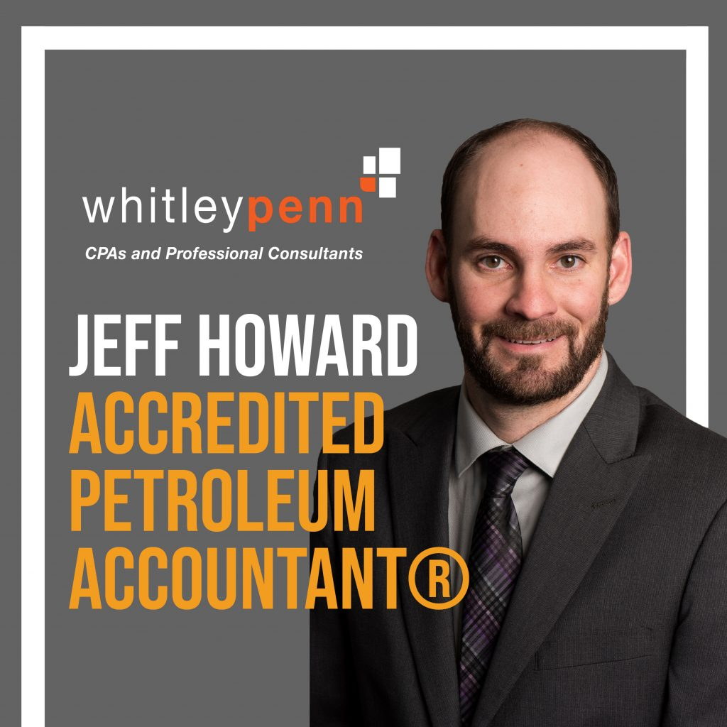 Jeff Howard Earns Accredited Petroleum Accountant® Certification