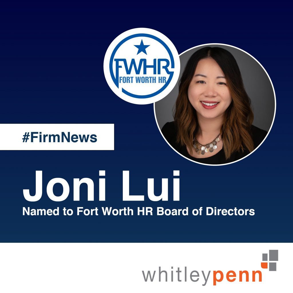 Joni Lui, CIR Named to Fort Worth HR Board of Directors
