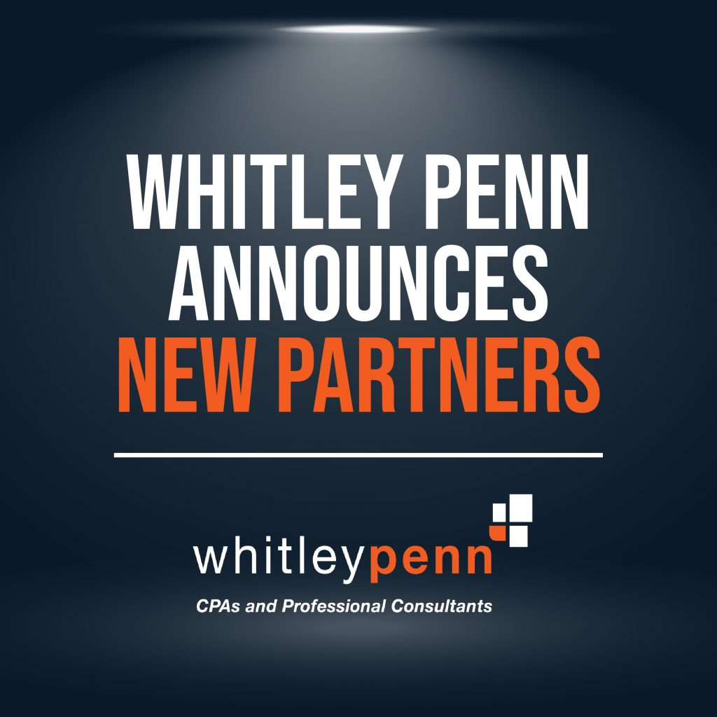 Whitley Penn Announces New Partners
