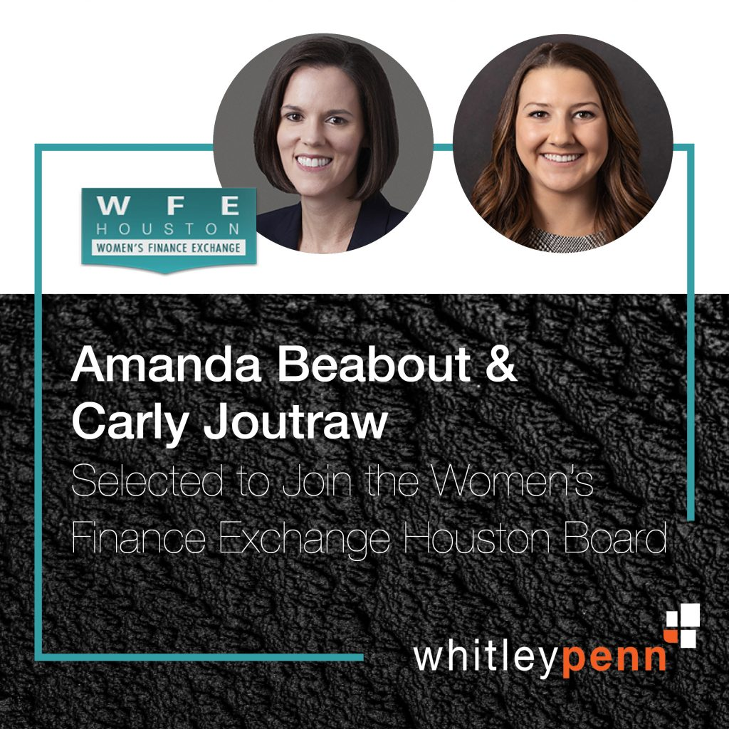 Amanda Beabout and Carly Joutraw to Join Women's Finance Exchange Board