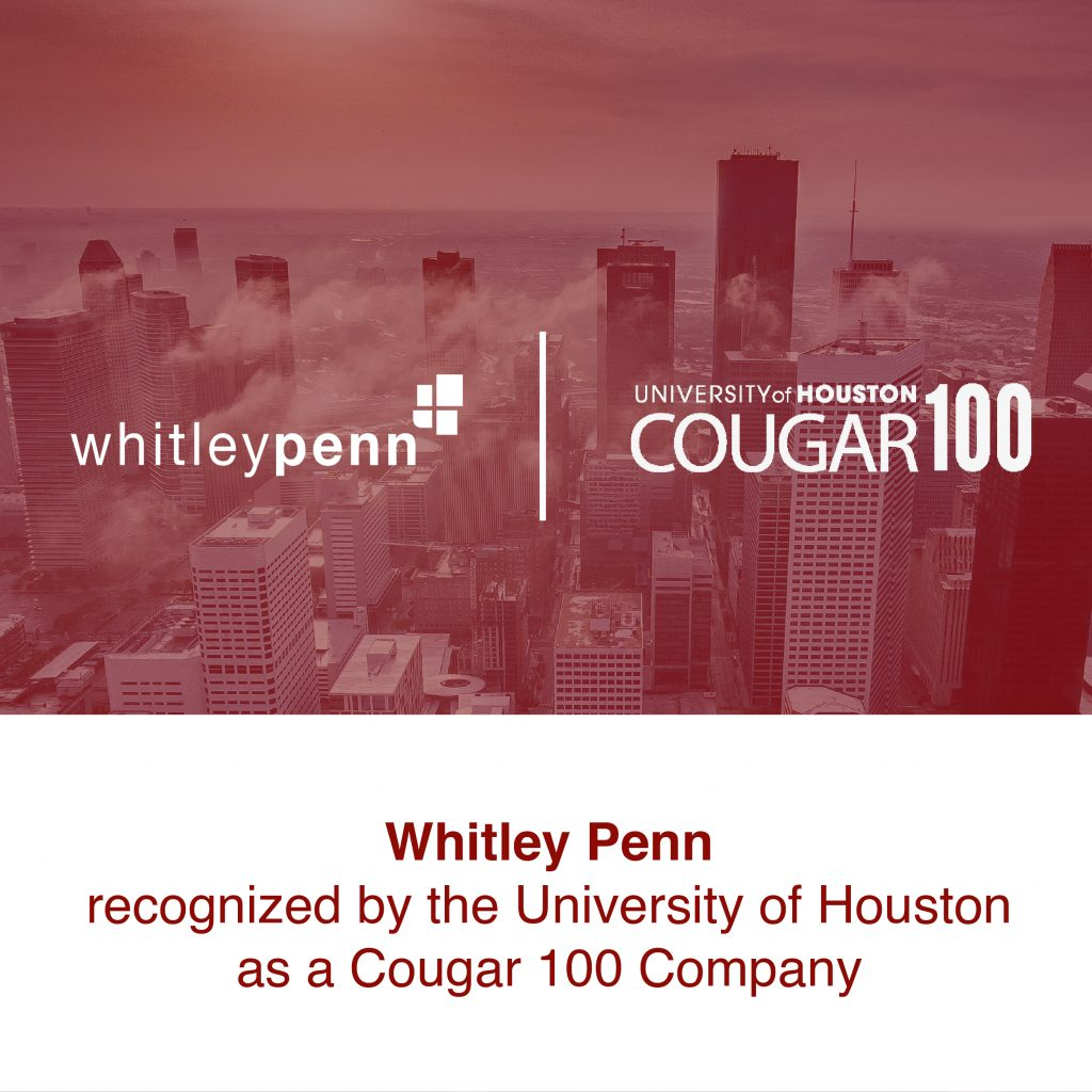 Whitley Penn Recognized by the University of Houston as a Cougar 100 Company