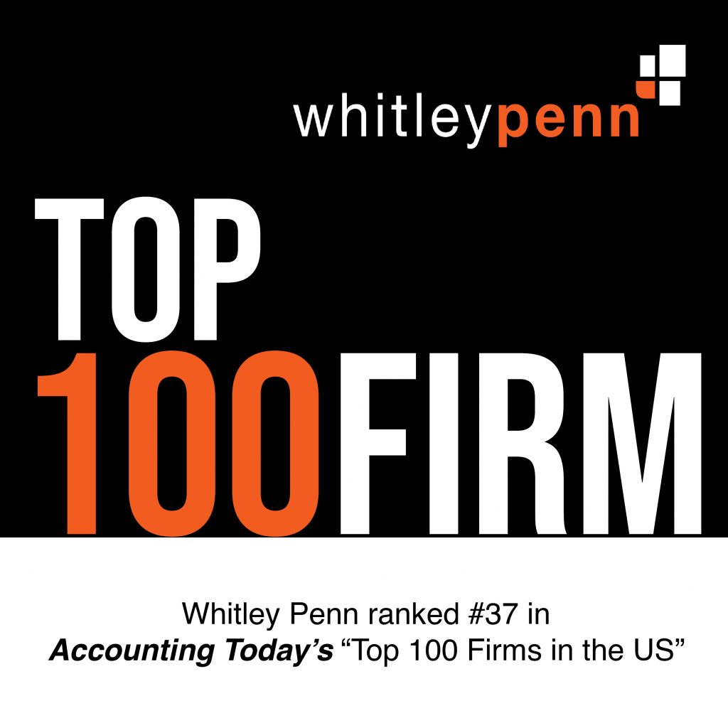 Whitley Penn Recognized as a Top 100 Firm by Accounting Today