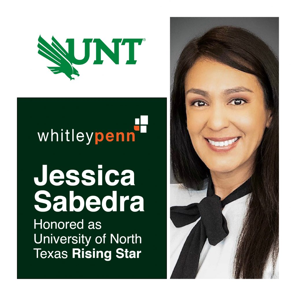 Jessica Sabedra Honored as University of North Texas Rising Star