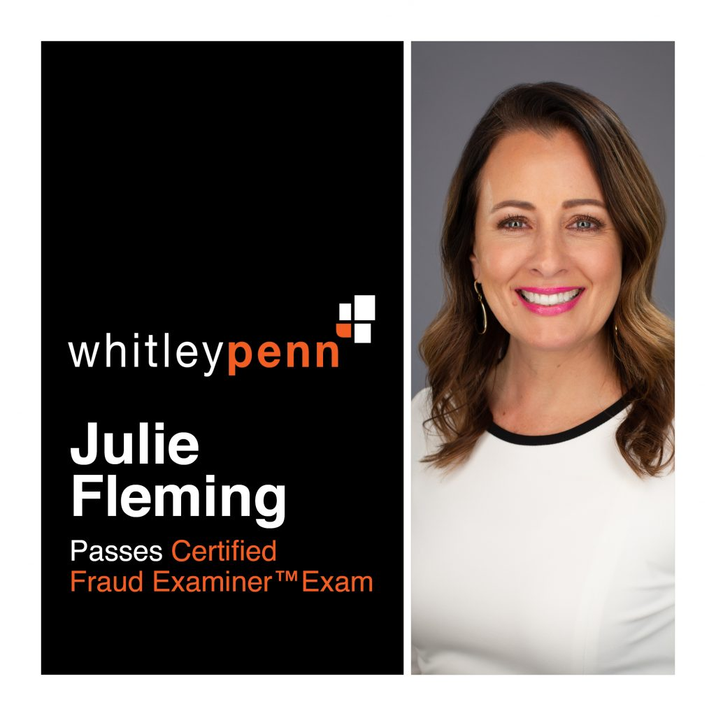 Julie Fleming Passes Certified Fraud Examiner™ Exam
