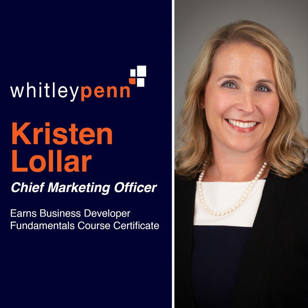 Kristen Lollar Earns Business Developer Certificate