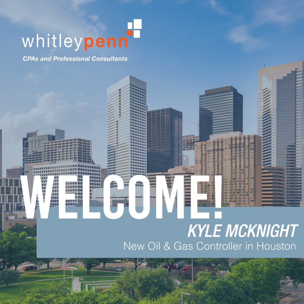 Welcome Kyle McKnight, Oil & Gas Controller in Houston