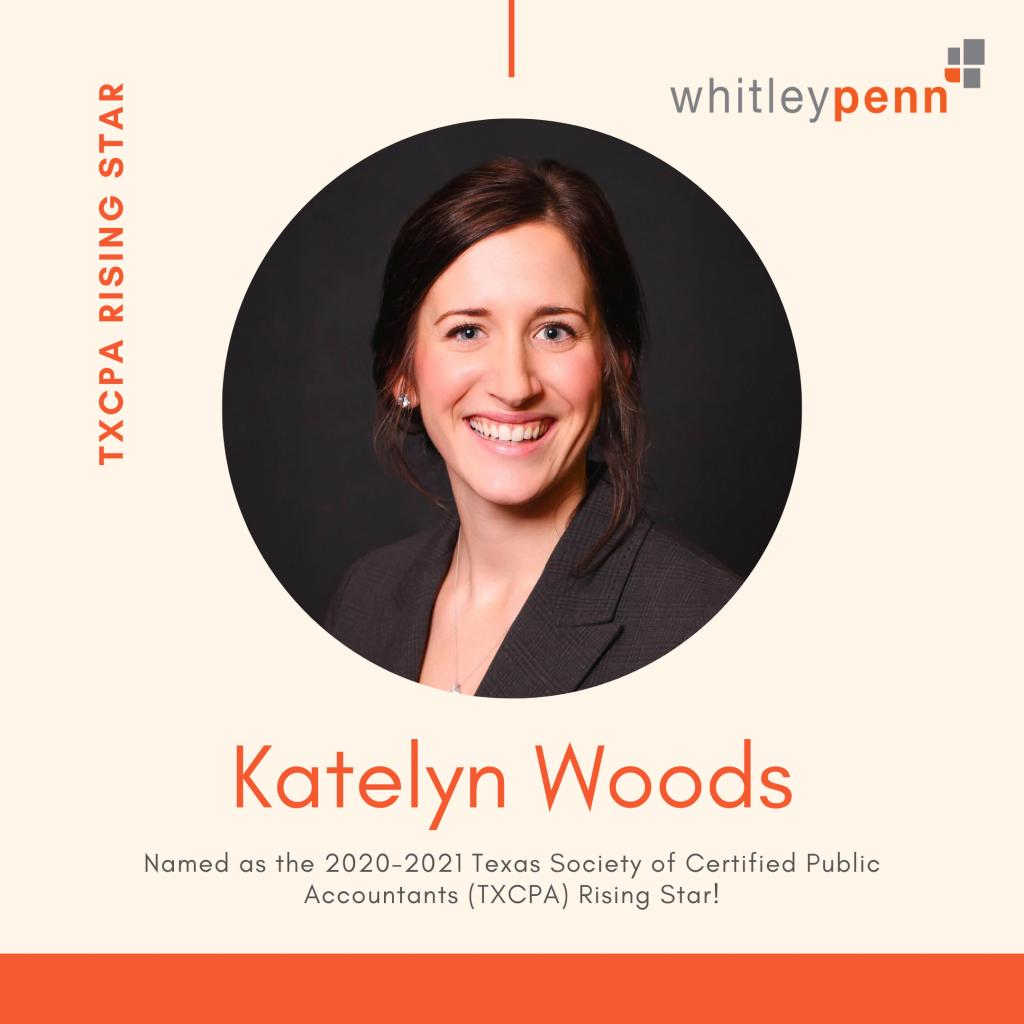 Katelyn Woods TXCPA Rising Star