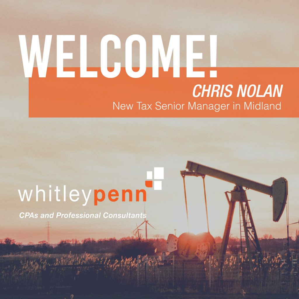 Chirs Nolan Joins Whitley Penn as Tax Senior Manager