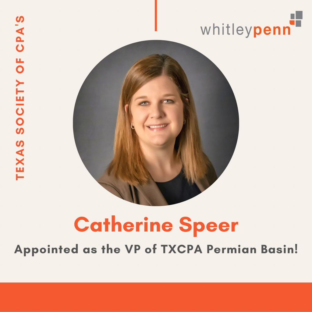 Catherine Speer appointed as the VP of the TXCPA Permian Basin