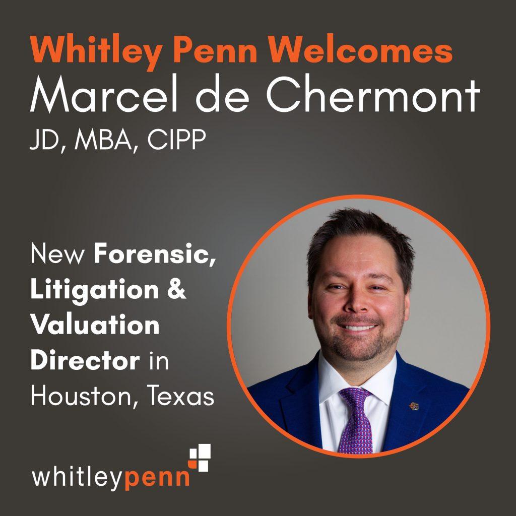 Marcel de Chermont joins Whitley Penn