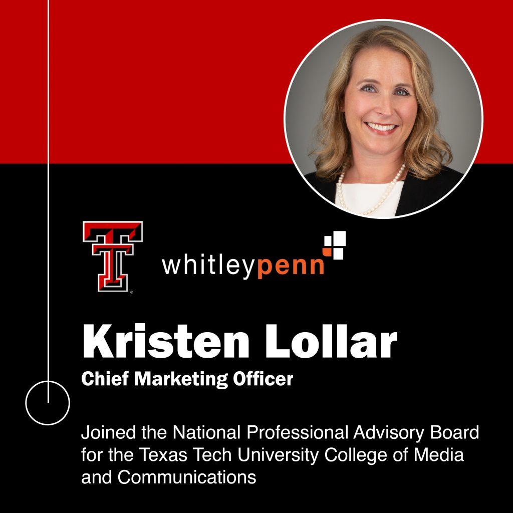Kristen Lollar Joins National Professional Advisory Board at TTU