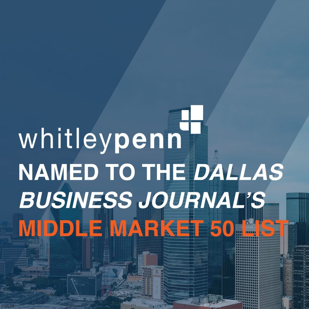 Whitley Penn Named to DBJ Middle Market 50
