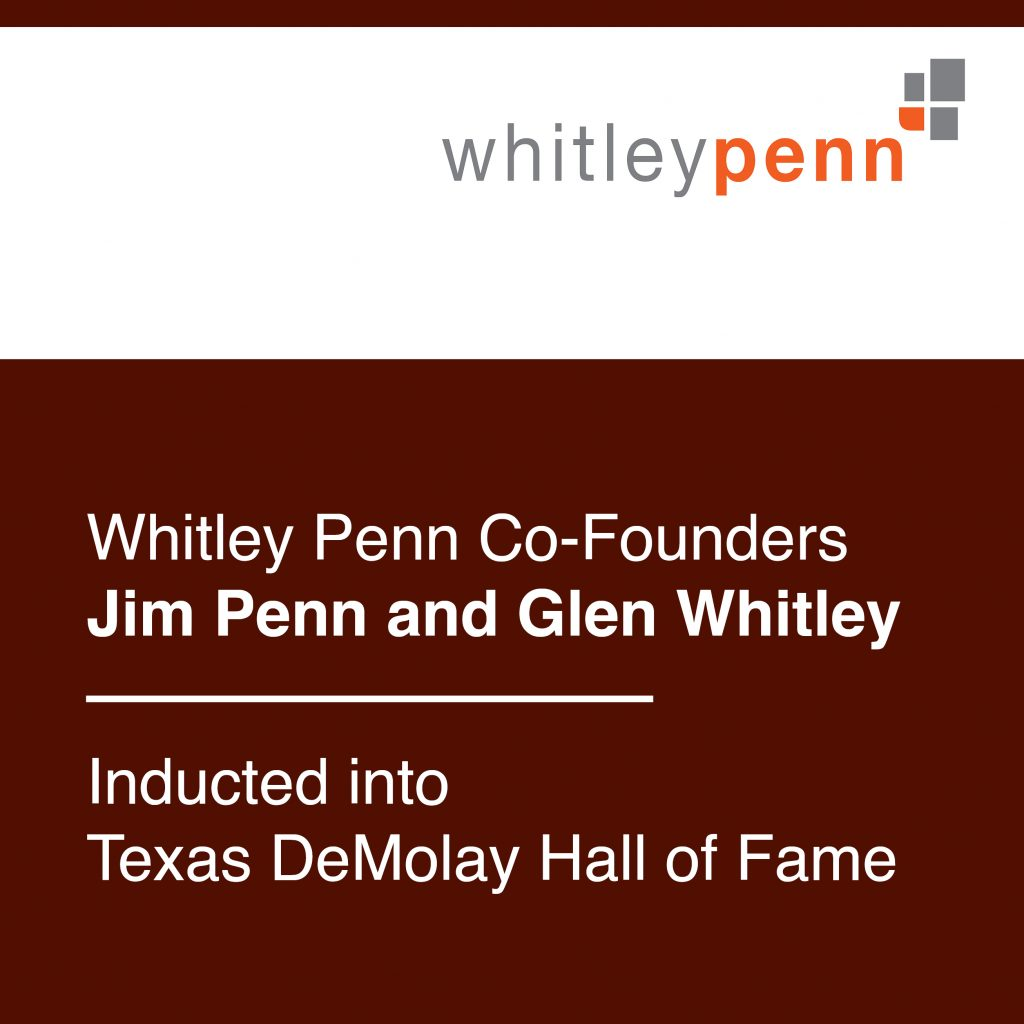 Whitley Penn Co-Founders Inducted into Texas DeMolay Hall of Fame