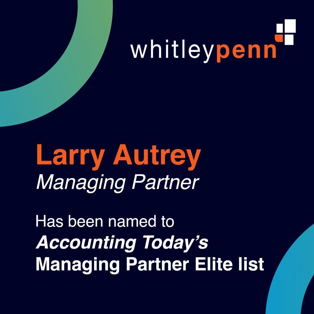 Larry Autrey Named to IPA Managing Partner Elite