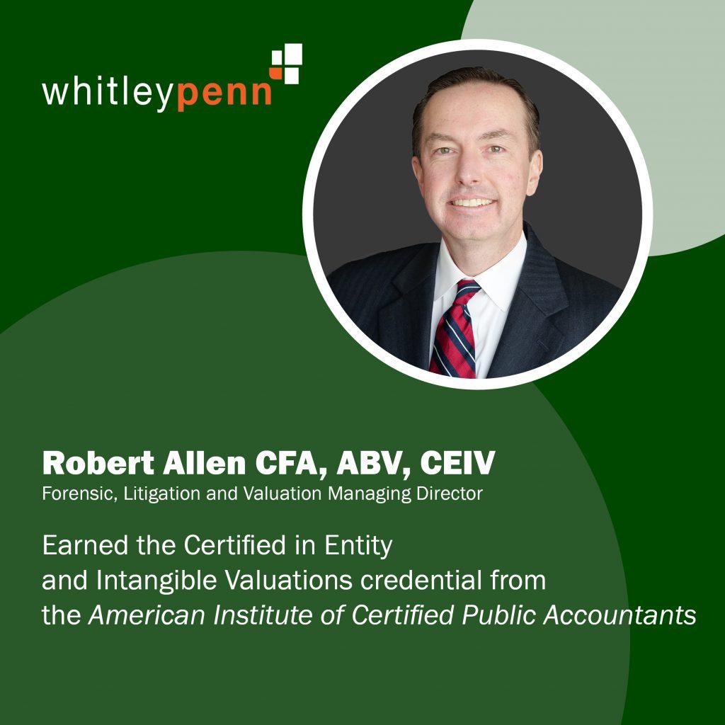Robert Allen Earns CEIV