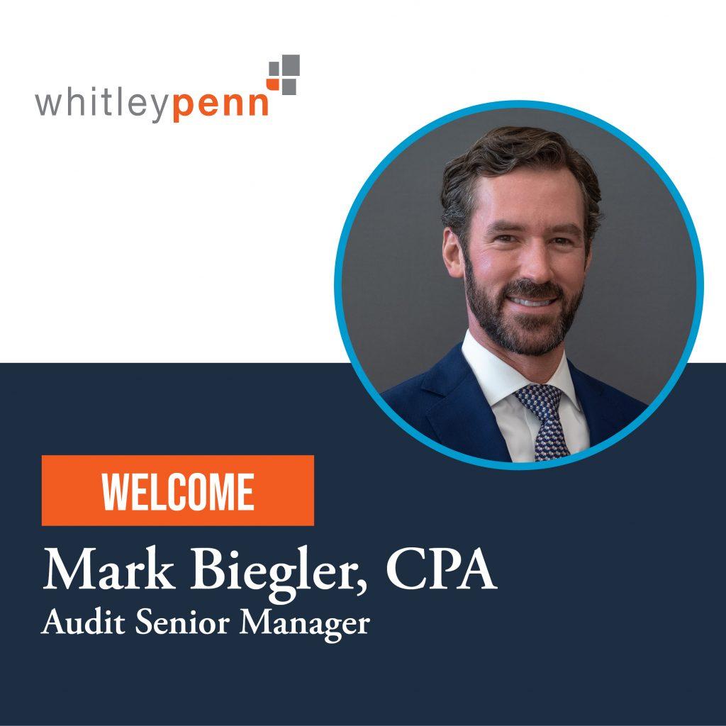 Mark Biegler Joins Whitley Penn